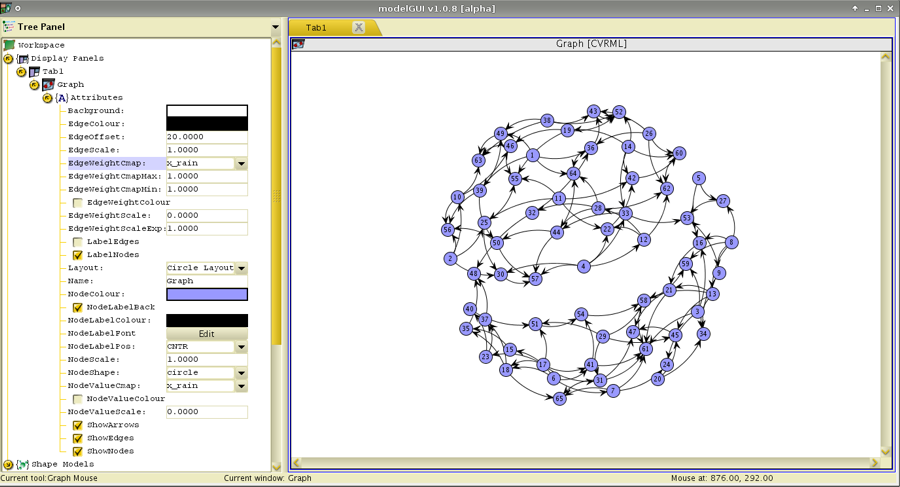 ModelGUI Wiki Site: User Tutorial - Working with Graphs